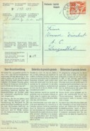 "Grossisten Karte  ""Brantschen, Sattler, St.Niklaus VS""               1959 - Brieven En Documenten"