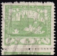 CZECHOSLOVAKIA - Scott #13a Hradcany At Prague / Used Stamp - Usati