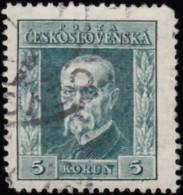 CZECHOSLOVAKIA - Scott #101 President Masaryk / Used Stamp - Usados