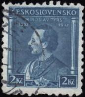 CZECHOSLOVAKIA - Scott #190 Miroslav Tyrs (*) / Used Stamp - Czechoslovakia