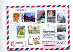 Lettre Recommandee Groningen Sur Braille Arbre Reine Etc + Vignette Retour  En Double - Postal History