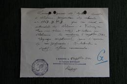 NARBONNE , Le 5 Septembre 1940, Laissez Passer Donné Par La Gendarmerie De NARBONNE Pour Un Déplacement à FABREZAN - Documents Historiques