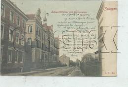 Solingen (Allemagne, Rhénanie-Nord-Westphalie) : Schwertstrasse Mit Gymnasium Im 1906 (lebendig) PF. - Solingen