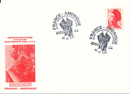 France Postcard Stamp Exhibition France - America Le Luc 13-14/6 1987 - Unclassified