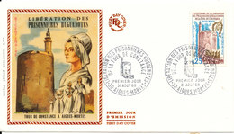 France FDC Liberation Des Prisonnieres Huguenotes With Silk Cachet 31-8-1968 - FDC
