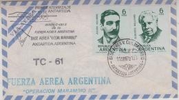 Argentina 1970 Operacion Marambio III Fuerza Aerea Argentina Cover (34348) - Poolvluchten