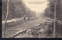 FP 166 Feldpostkarte 1. Weltkrieg Strasse Im Argonnenwald - Frankreich