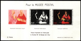 Pour Le Musée Postal  - Phases D'impression  Du Nouveau Né De Georges De La Tour - Documents De La Poste