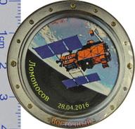 93-7 Space Soviet Russia Pin. Cosmodrome Vostochny. The Satellite Lomonosov 28 Apr 2016 - Space