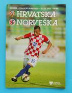 CROATIA : NORWAY - 2015. Football Match Programme Soccer Fussball Programm Calcio Programma Foot Programa - Books