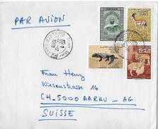 ALGERIE - SUISSE → Nach AARAU Anno 1963 - Algerien (1962-...)