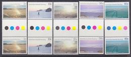 AAT 1987 Landscapes 5v  Gutter ** Mnh (34359) - Australian Antarctic Territory (AAT)