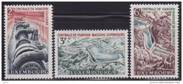Luxembourg 1964 Vianden Pumped Storage Plant, MNH (**) Michel 693-695 - Luxembourg