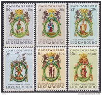 Luxembourg 1963 Charity - Caritas - Guild Signs, MNH (**) Michel 684-689 - Luxembourg