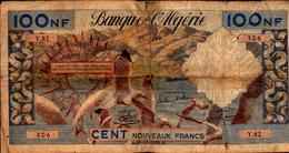 ALGERIE 100 NOUVEAUX FRANCS Du 18-12-1959  Pick 121a   RARE - Algérie