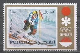 Fujeira 1972. Michel #823 (MNH) Slalom Skiing, Winter Olympics, Sapporo * - Fujeira