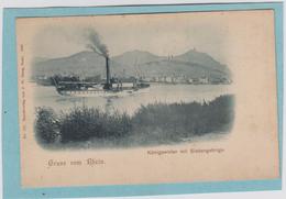 GRUSS  VOM  RHEIN  -  KÖNIGSWINTER  MIT  SIEBENGEBIRGE  -  CARTE  PRECURSEUR  - 1898  - - Koenigswinter