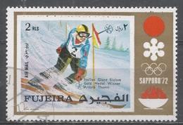 Fujeira 1972. Michel #843 (U) Slalom Skiing, Gustav Thoni (ITA), Winner Of Gold Medal * - Fujeira