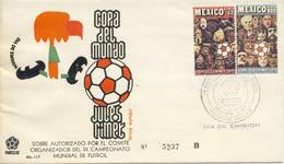 Voetbal: FDC Mexico - 1970 - World Cup
