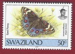 1992 - Blue Pansy (Junonia Orithya Ssp. Madagascariensis) - Yt:SZ 607 - * - Swaziland (1968-...)