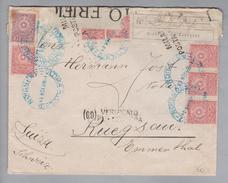 Paraguay 1918-04-04 Asuncion R-Zensurbrief Nach Rüegsau Bern CH - Paraguay