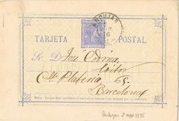 20891. Entero Postal 5 Cts Alfonso XII, Fechador Grande ANDUJAR (Jaen) 1876, Num 8 º - Enteros Postales