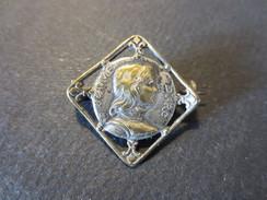 Broche Ancienne Argent - Jeanne - D'Arc - Fleurs De Lys - XIX E - Religion & Esotericism
