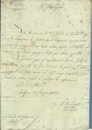 AUTOGRAFO CONTE CAMILLO GRASSI  LETTERA AL CONTE GIOVANNI MASSEI BOLOGNA 25 GIUGNO 1825 RR - Autografi