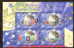 Samoa 2005 Yvertn° Bloc 73 *** MNH Feuillets Cote 18 Euro 50 Ans Europa 50 Jaar - Samoa