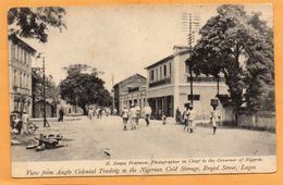 Lagos Broad Street Nigeria 1910 Postcard - Nigeria