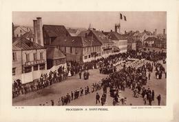 PROCESSION A ST-PIERRE-ET-MIQUELON, Animée, Planche Densité = 200g, Format: 20 X 29 Cm, (Ag. Colonies Autonomes) - Documents Historiques