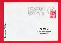 AVON  ( Son Eglise Du X° Siècle ) - Marcophilie (Lettres)