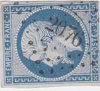 N° 14 A    PC  2076  MONTDIDIER   /  SOMME  -   LOT  LIG37 - 1853-1860 Napoléon III
