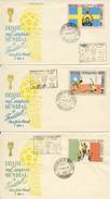 Voetbal: 3 FDC's Brazilië - 1970 - World Cup