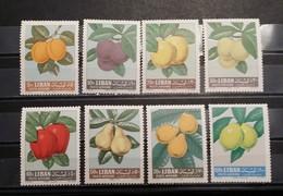Lebanon, 1962, Mi: 807/14 (MNH) - Fruits