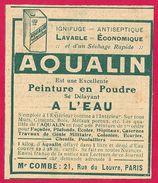 Aqualin Peinture En Poudre 1910 - Publicités