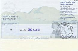 Lesotho Type 31 - Reply Coupon Reponse , Antwortschein , IRC , IAS Overprinted Maseru - Lesotho (1966-...)