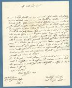 IMOLA 25 GIUGNO 1847 LETTERA AUTOGRAFA  AVV.FRANCESCO ZOTTI CON SIGILLO PER L'AVV., CONTE GIOVANNI MASSEI A BOLOGNA - Autografi