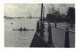 Cpa Carte-photo Saïgon, Port Vue De La Pointe Des Blagueurs ( Aviron ) - Viêt-Nam