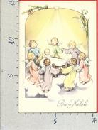 CARTOLINA VG ITALIA - BUON NATALE - Gesù Bambino Circondato Da Angioletti - 10 X 15 - ANN. 1954 - Altri