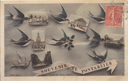 11624.....PONTARLIER, Souvenir De En 4 Vues - Pontarlier