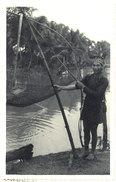 Cpa Carte-photo Cochinchine - Pêcheur Au Carrolet - Viêt-Nam