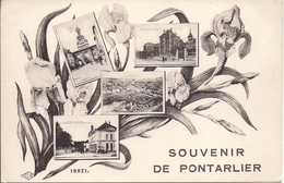11625.....PONTARLIER, Souvenir De En 4 Vues - Pontarlier