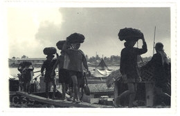 Cpa Carte-photo Cochinchine - Coolies - Viêt-Nam