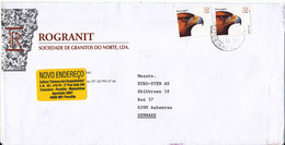 Portugal Cover Sent To Denmark Matosinhos 1-9-2000 ?? BIRD On The Stamps - Lettres & Documents