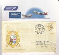 Peru Aerogramme Cancelled 2003 / 02 - Peru