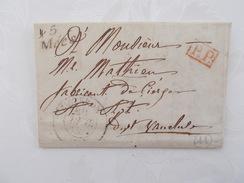 BASSES ALPES.PLI.CURSIVE B.MEES.SISTERON.PORT PAYE.1839. - 1801-1848: Précurseurs XIX