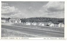 HUNTSVILLE, Ontario, Canada, Hunter's Cabins, Old WB Adv Postcard, Muskoka - Huntsville