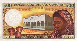 COMORES Banque Centrale  500 FRANCS De 1994nd Pick 10b  UNC/NEUF - Comoros
