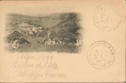 Au Crayon Et Cachet :  Section De L'Atlas Club Alpin Français  (rare) - Scenes